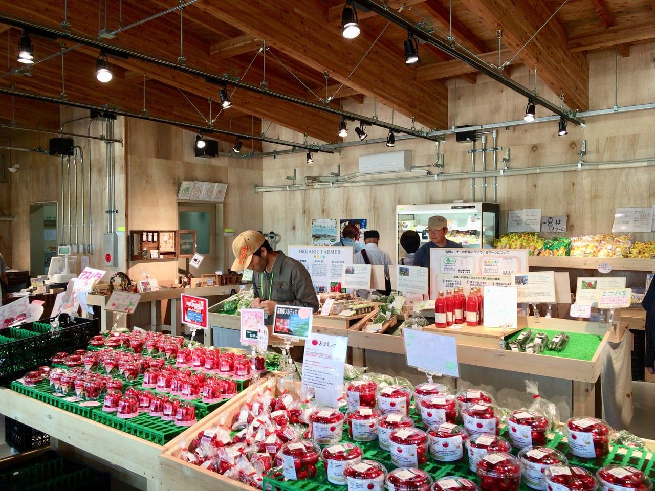 農産物直売所べジステの店内風景
