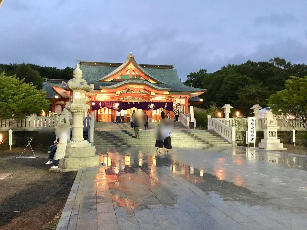 樽前山神社の本殿の様子