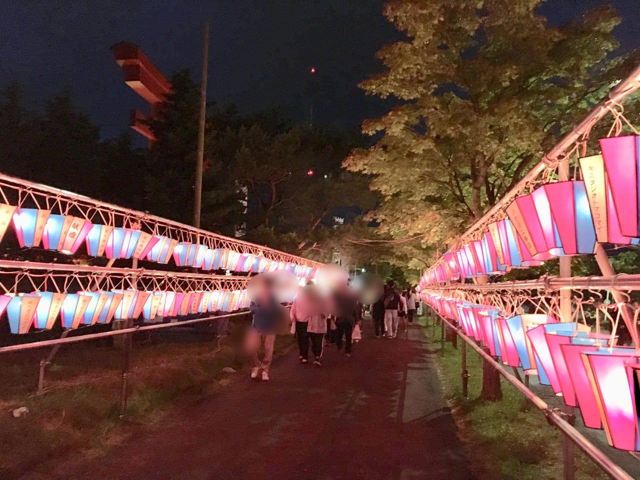 樽前山神社例大祭の入り口付近