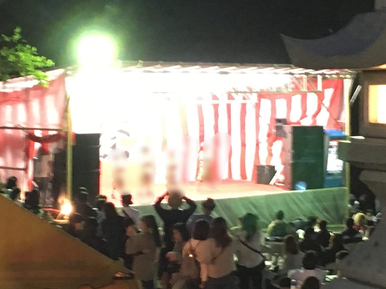苫小牧総鎮守 樽前山神社例大祭のステージの様子