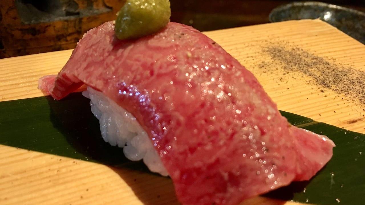 「久保屋」の肉寿司