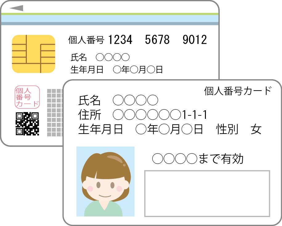 マイナンバーカードのイメージ図