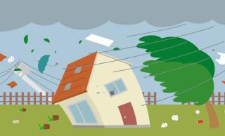 台風のイメージ図