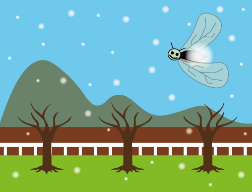 雪虫のイメージ図